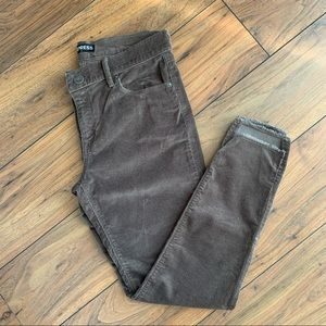 NWOT Express Mid Rise Brown Ankle Corduroy Legging